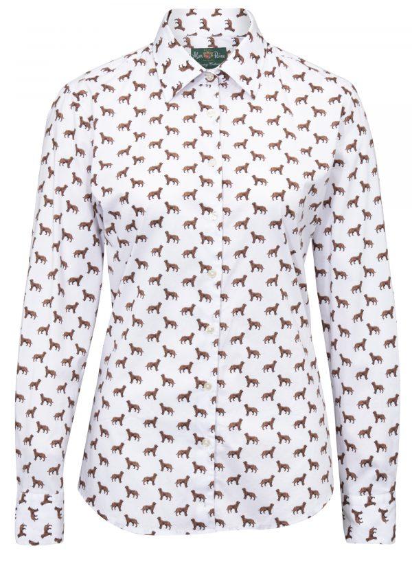ladies dog-print blouse